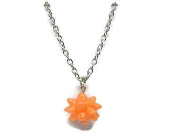 Cosmic orange star candy necklace