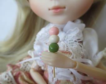 Miniature Hanami Dango BJD Prop - Japanese Street Food - SD Lati Azone Pullip Blythe Nendoroid