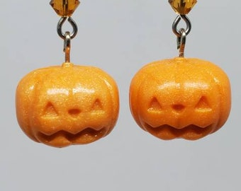 Pastel Orange Pumpkin Earrings