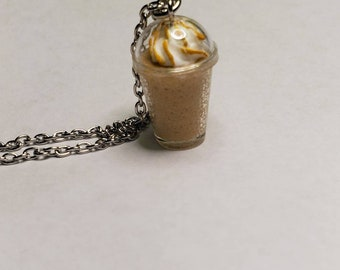 Miniature Caramel Latte Necklace