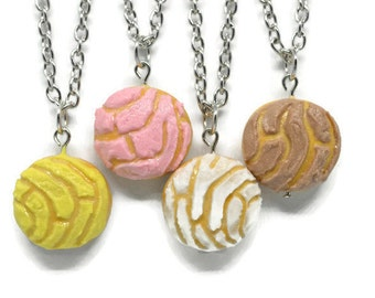 Food Necklace Conchas Charm