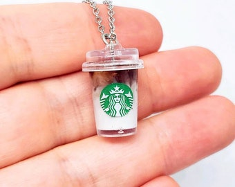 Miniature Mocha Macchiatto Necklace Gift for Coffee Lover