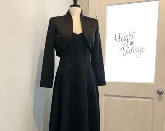 90s NIPON Night Classic Black Cocktail Gown (s-m)