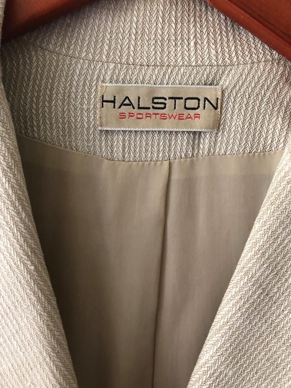 Vintage HALSTON SPORTSWEAR Cream Blazer Jacket - image 5