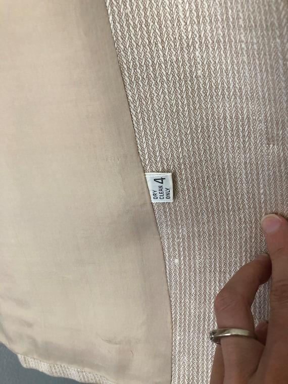 Vintage HALSTON SPORTSWEAR Cream Blazer Jacket - image 6