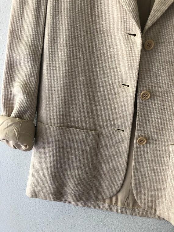 Vintage HALSTON SPORTSWEAR Cream Blazer Jacket - image 4