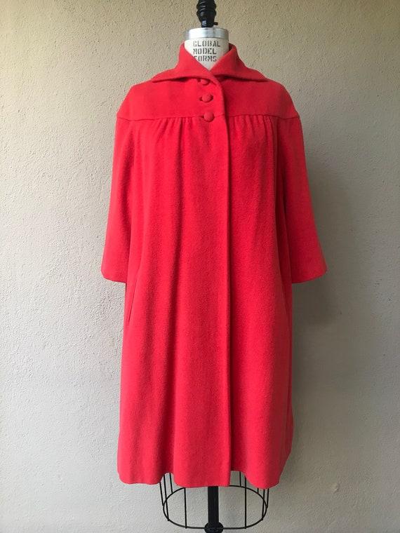 Vintage 1950s Angora Silk Swing Coat: Florescent p