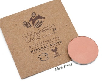 Blush makeup - matte beige blush. All natural beauty products. Zero waste cosmetics. Pure mineral makeup. Vegan pressed mica powder