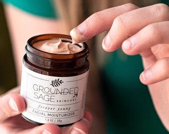 FACE CREAM - natural bb cream. Anti aging facial moisturizer. Apothecary organic skincare. Vegan lotion with avocado, shea butter, and apple