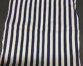 Navy Blue Striped Vintage Pocket Square Unisex Striped Kerchief 9-1 2 x 10 quot Scarf for Suit Jacket