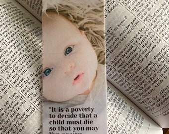 St. Theresa of Calcutta Bookmark, St. Theresa Bookmark, Quote Bookmark, Saint Quote Bookmark, Prolife Bookmark