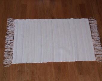 Handwoven Rag Rug - White