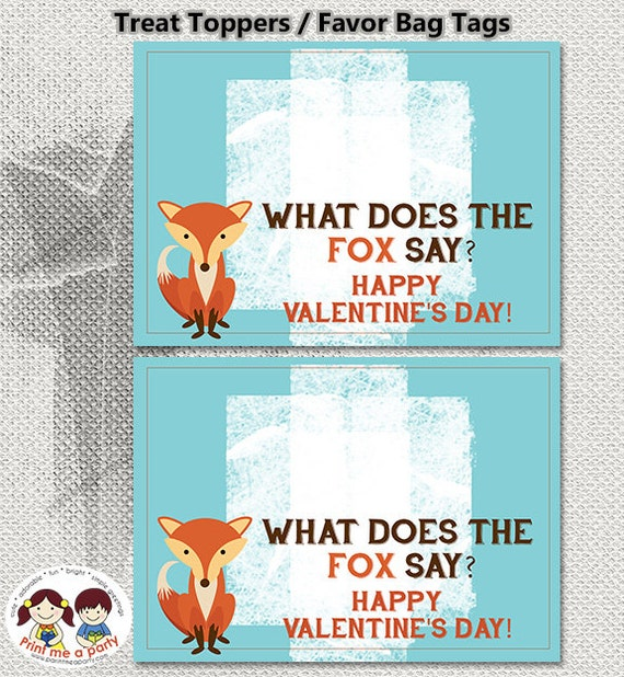 Funny Fox Valentine Quote Favor Tags Printable Favor Labels Gorgeous Childrens Valentines Day Quotes