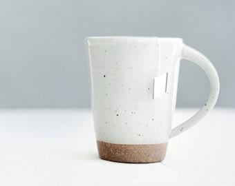 Ceramic Mug - White Mug - Pottery Mug - Coffee Mug - Stoneware Mug