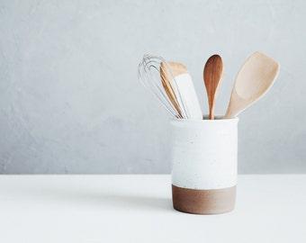 Ceramic Utensil Crock - Utensil Holder - Ceramics - Pottery