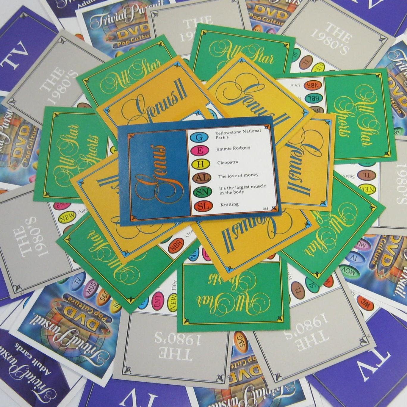 Trivial Pursuit 100 randomly selected cards Genus 5