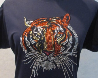 5b962afbac2d Tiger Rhinestone Long Sleeve Shirt Tiger Bling Shirt Ladies Bling Shirt  Long Sleeve Sparkling Tee
