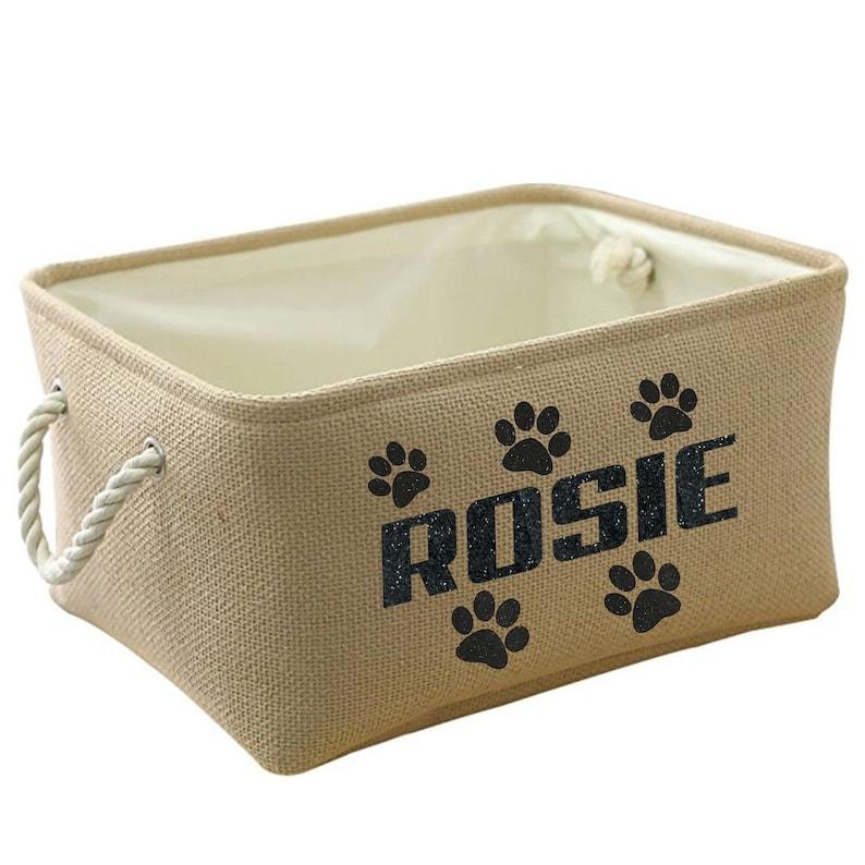 18f64bcfc96c Personalized Pet Toy Storage Basket Pet Storage Dog Toy Bin   Etsy