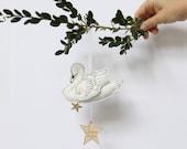 Swan Keepsake Ornament - Personalized