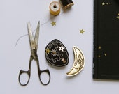 Gold Moon Phase Hair Clips