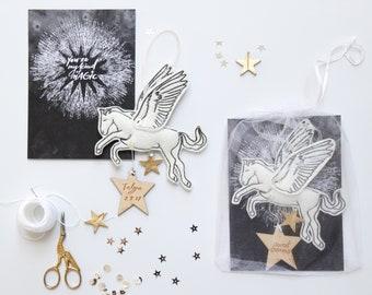 Pegasus Keepsake Ornament - Personalized