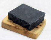 Activated Charcoal Tea Tree and Peppermint Essential Oil Handcrafted Goat Milk Soap, Acne Facial Soap ,Detox Clarifying Soap, Made In Maine