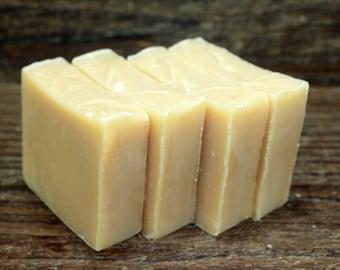 Clove & Orange Essential Oil, Handcrafted Goat Milk Soap ,Made in Maine, Sensitive Skin, Moisturizing Bath and Body Soap. Orange and Clove