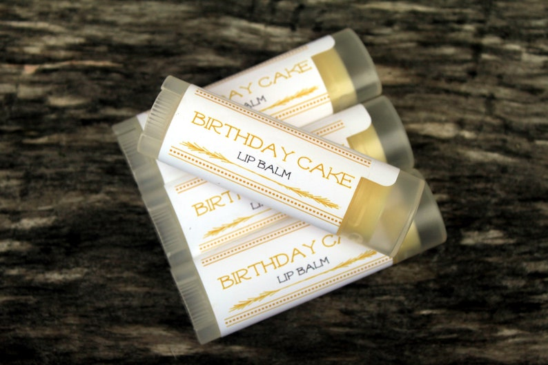 4 Handcrafted Birthday Cake Flavored Lip Balms Made In Maine