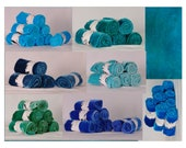 Hand-dyed Rayon Velvet, Blues, Fat Eighths