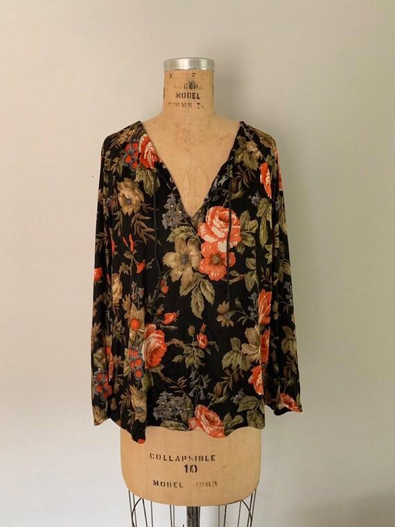 Vintage 1970s Blouse / 70s Peasant Blouse / 1970s… - image 4