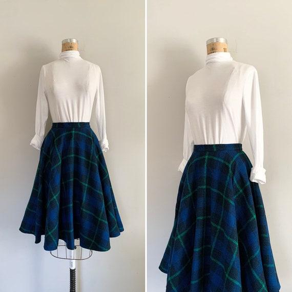 1960s Pendleton Full Circle Skirt / 60s Pendleton