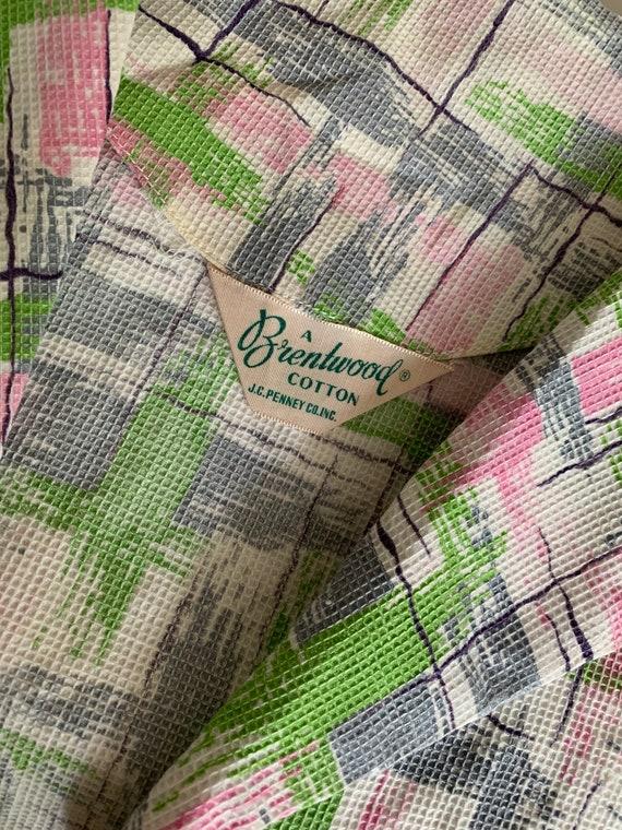 1940s Cotton Pique Printed Sundress and Bolero Ja… - image 8