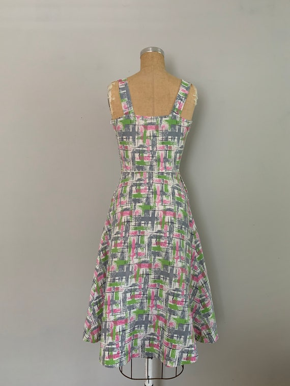 1940s Cotton Pique Printed Sundress and Bolero Ja… - image 4