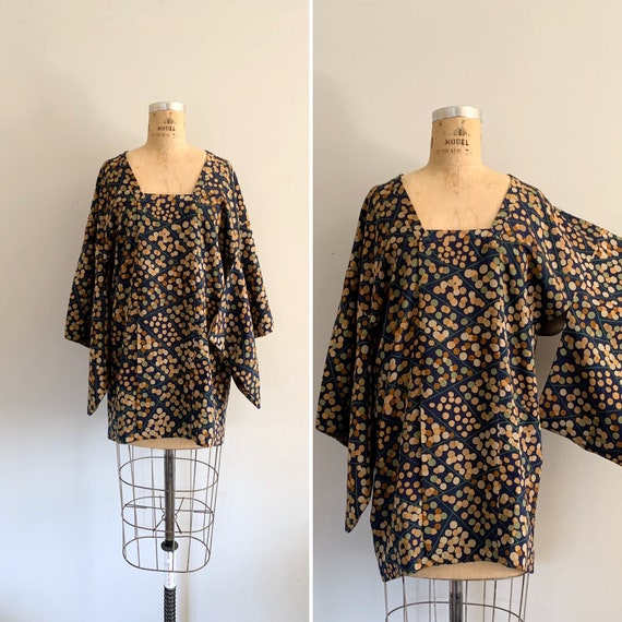 Vintage Silk Michiyuki / Vintage Silk Haori / Vint