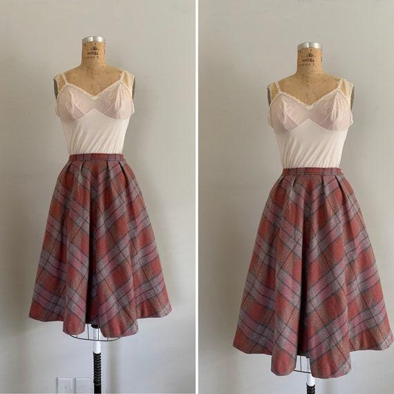 1970s Young Pendleton Circle Skirt / 70s Young Pen