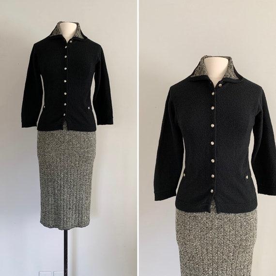 1940/50s Gloria Knitwear Wool Knit Suit / 40s/50s