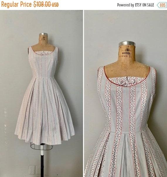 Clearance 1950s L'Aiglon Dress / 1950s Small Flora