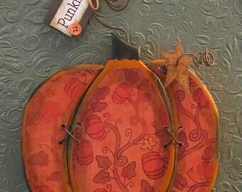 Punkin - Fall and Halloween Decor Pumpkin Sign