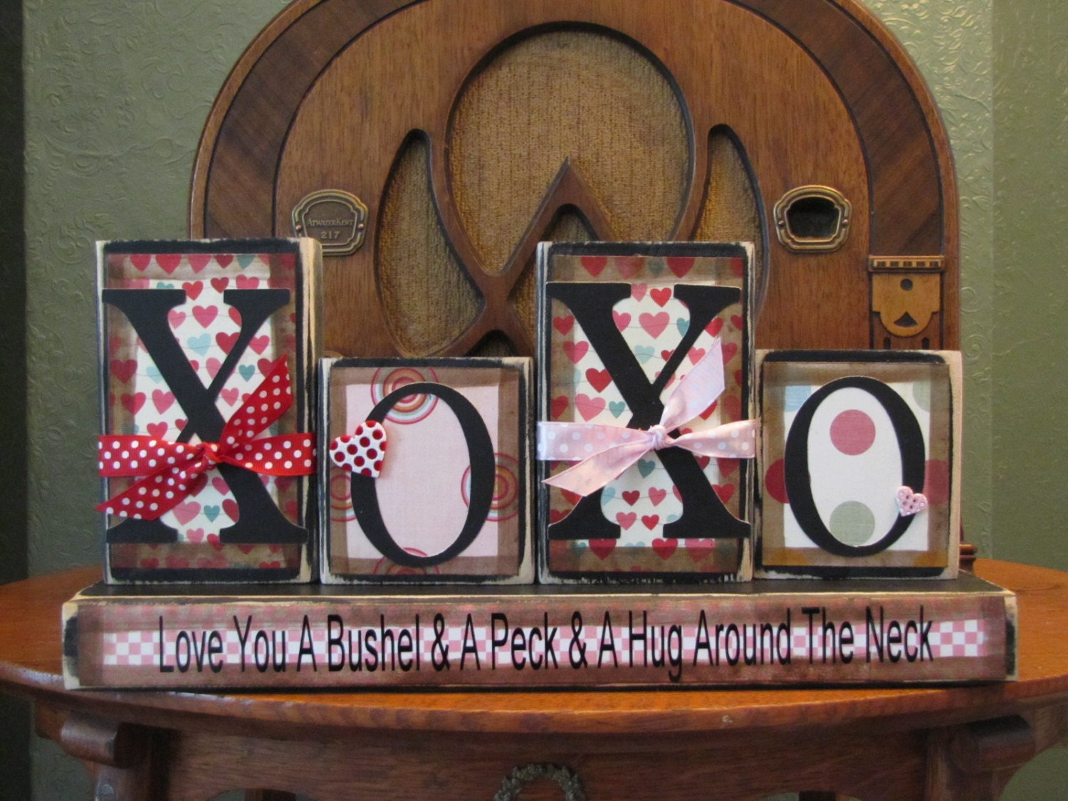 Valentines Day Decor Xoxo Love You A Bushel And A Peck And Etsy