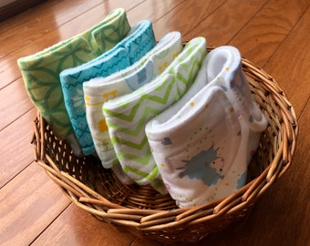 Neutral Baby Doll Diaper Set of Five Cloth Diapers