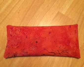 Releasing the Past, Opening to the New gemstone eye pillow with iolite and black tourmaline