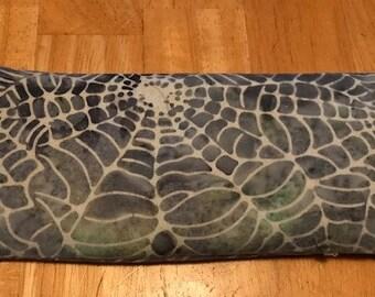 Spider Animal Spirit Gemstone Eye Pillow with Unakite, Aragonite, Zebra Stone and Leopardskin Jasper stones