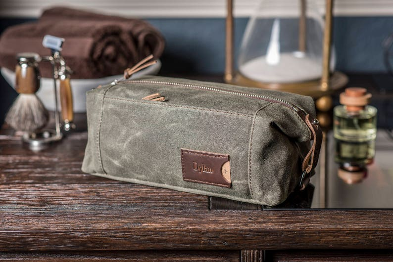 Personalized Toiletry Bag for Men  Convertible Dopp Kit  ed91953effc87