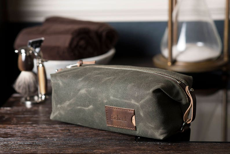 7057c932a8 Personalized Dopp Kit  Convertible Men s Toiletry Bag