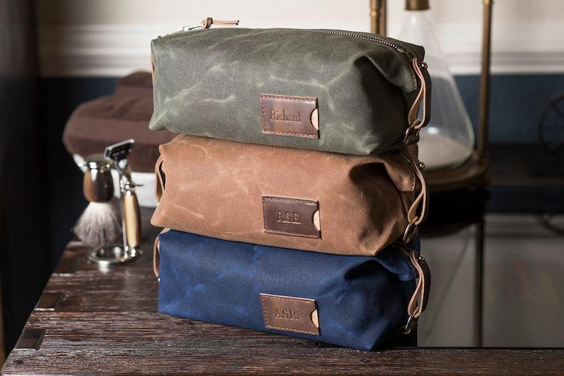 Personalized Dopp Kit: Expandable Men's Toiletry Bag image 0