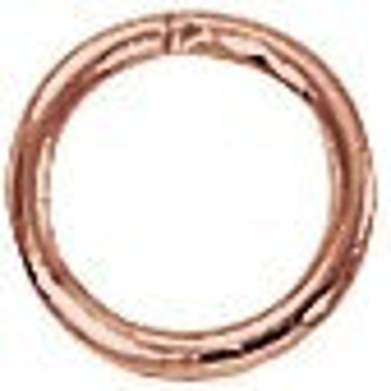 GC-108-B Genuine Copper CLOSED Jump Ring 6mm 19 ga 40 pcs