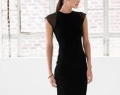 Stylish Dress Pencil Dress Fitted Dress Extravagant Dress Mesh Dress Cocktail Dress Marcellamoda - MD1012