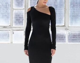 LBD   Long Sleeve Dress   Cocktail Dress   Black Dress   Party Dress   Formal  Dress   Fitted Dress   Marcellamoda - MD0870 53728e2e3e00