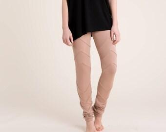 Designer Long Leggings / Womens Tights / Pants / Black Pants / Fitted Pants / Black Tights / Marcellamoda - MP0132