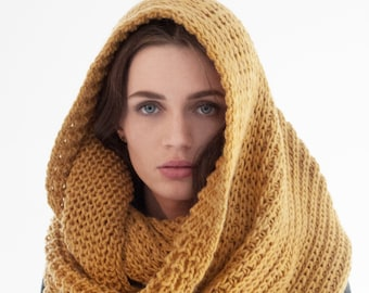 Knit Scarf, Chunky Scarf, Chunky Knit, Infinity Scarf, Women's Scarf, Knitted Scarf, London Infinity Scarf, Marcella - MA0402